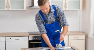 اصلاح تسريب حنفية المطبخ
